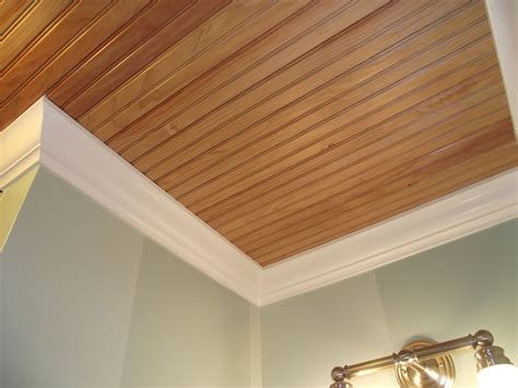 Beadboard Ceiling Planks In Bathrooms  House And Home