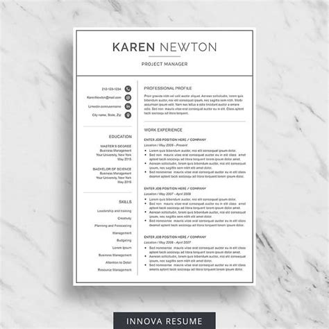 Chronological Resume Minimalist Design by Modern Resume Template For Word Minimalist Resume Design
