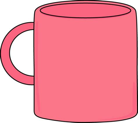 Pink Coffee Mug Clip Art
