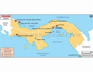 Buy Panama Airports Map