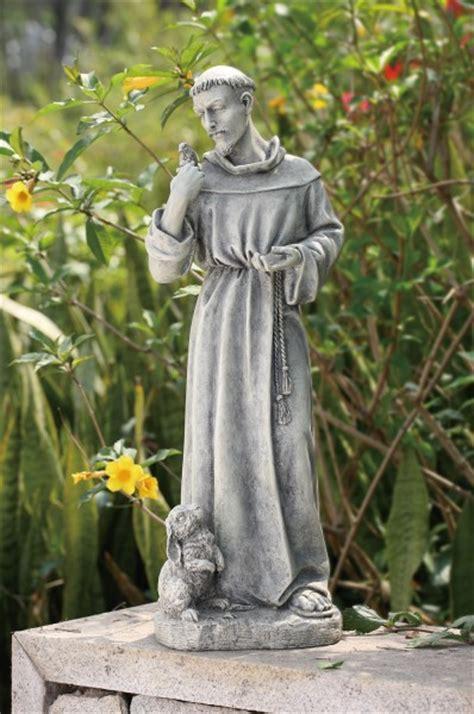 st francis garden statue st francis garden statue with rabbit 24 quot