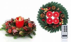 Adventskranz Led Kerzen : adventskranz mit led kerzen groupon goods ~ Frokenaadalensverden.com Haus und Dekorationen