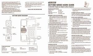 Dct1900 Dect Cordless User Guide Pdf Teledex  U2013 Diagramasde