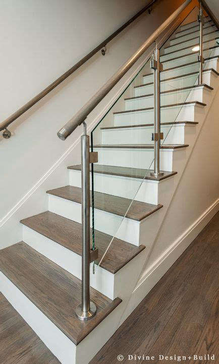 modern glass  metal staircase stairway design stair