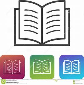 Thick Book Icon  Cartoon Style Vector Illustration