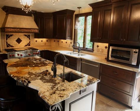 Exotic Granite Counter   Traditional   Kitchen   Cleveland