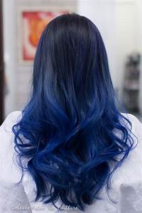 Black Hair Color Hair Highlighting Of Hair Color With Blue