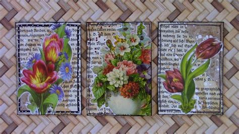 mixed media project  atcs artist trading cards