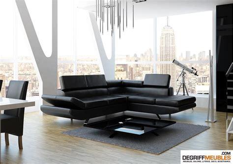 canapa d angle salon avec canape noir