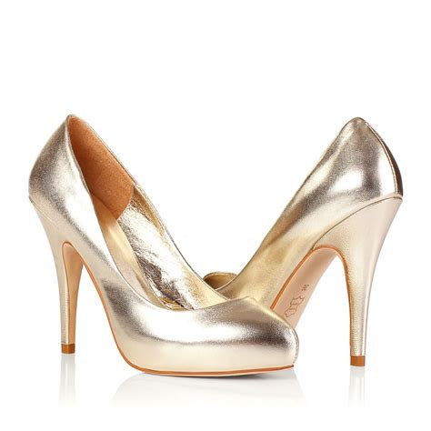 wedding shoes designer high heel pumps closed toes glod designer wedding shoes
