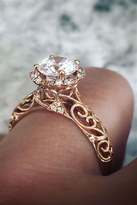 sophisticated vintage engagement rings  prove