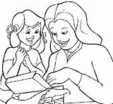 Coloring Pregnant Woman Mother Daughter Template sketch template