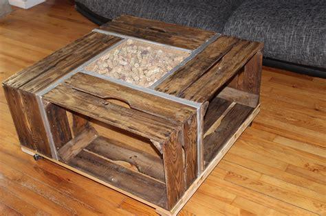 table basse en cagette table basse cagette