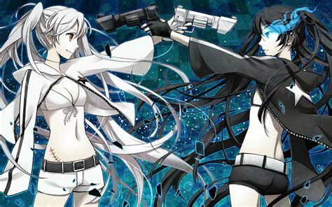 anime game shooter black rock shooter and white walldevil