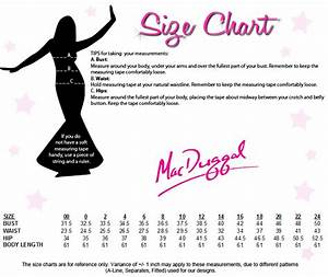 Mac Duggal Size Chart