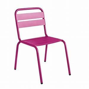 Chaise Design Metal : chaise de jardin design visalia color e par ~ Teatrodelosmanantiales.com Idées de Décoration