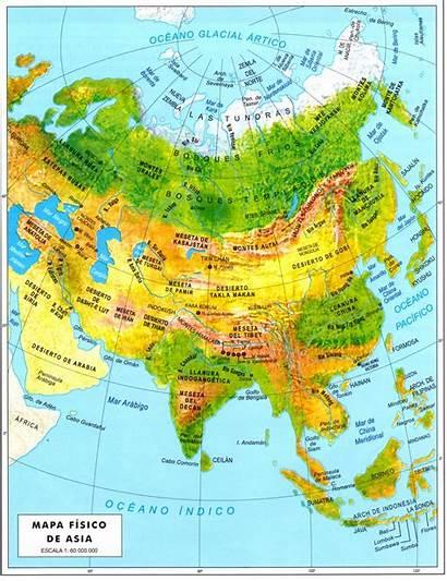 Asia Mapa Fisico Continente Geografia Islas Google