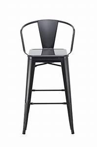 Chaise Bar Industriel : tabouret de bar industriel en metal noir duhome 0623 ~ Farleysfitness.com Idées de Décoration