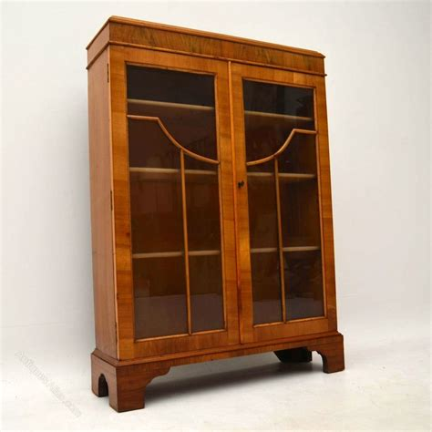 Two Door Bookcase by Antique Walnut Two Door Bookcase Antiques Atlas