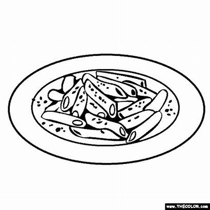 Cheese Coloring Macaroni Pages Line Starting Letter