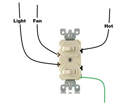 bathroom fan light switch i a bathroom with a light and separate fan both