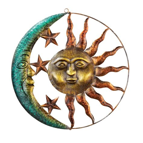 tin home decor sun and moon metal wall by collections etc ebay