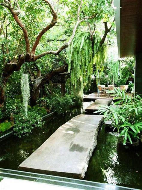 cozy small backyard  forest garden  ponds