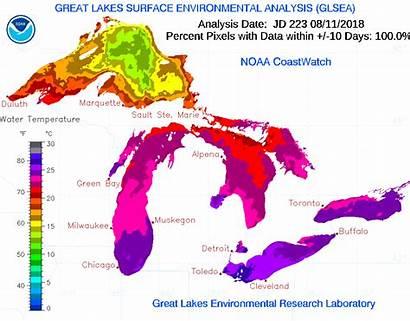 Coastwatch Noaa Lakes Lake Climate Change Node