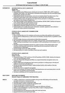 clinical data associate resume samples velvet jobs With clinical trial associate