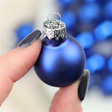 miniature royal blue glass christmas ball ornaments
