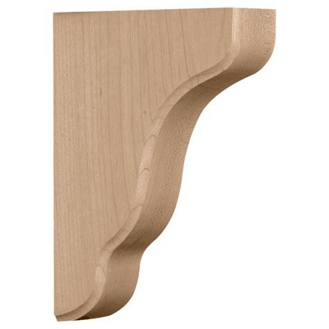 Wooden Shelf Corbels by Ekena Millwork 1 3 4 In X 5 1 4 In X 7 1 2 In Alder
