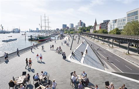 Hadid Hamburg by Hamburg River Promenade By Zaha Hadid Architects 谷德设计网