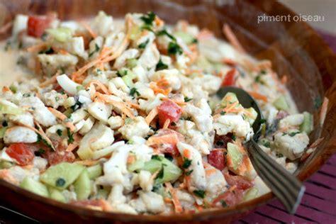 recette salade de poisson  la tahitienne