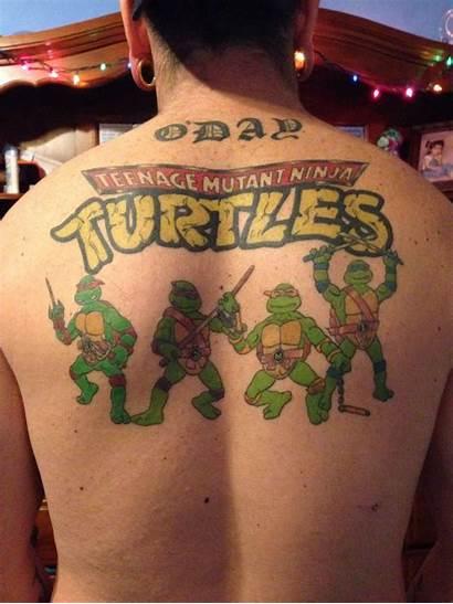 Ninja Turtles Tattoos Tmnt Mutant Teenage Before