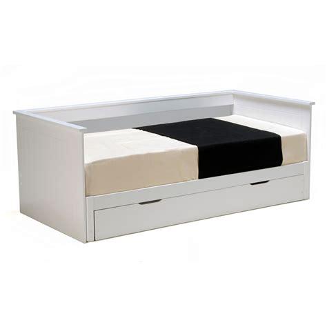 banquette lit extensible tiroir couchage 90x190cm en