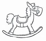 Rocking Horse Sketch Coloring Paintingvalley Sketches sketch template