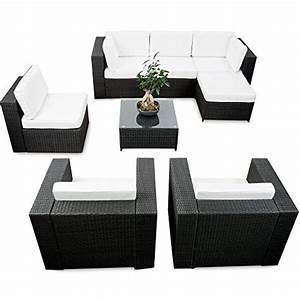 schwarz sitzgruppen und weitere gartenmobel gunstig With französischer balkon mit garten lounge xxl
