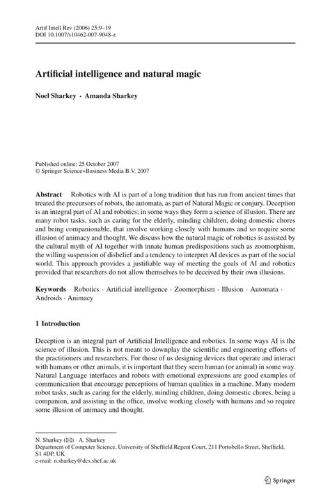 (PDF) Artificial intelligence and natural magic