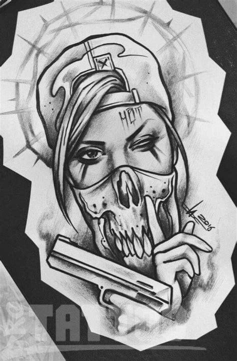 Pin de Federico Margel en cel | Dibujos para tatuar, Tatuaje de payaso y Tatuaje chicano