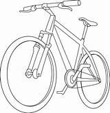 Bicycle Bike Coloring Pages Clipart Drawing Mountain Clip Handlebar Cycle Line Simple Transport Stem Printable Getcolorings Drawn Rock Getdrawings Colorings sketch template