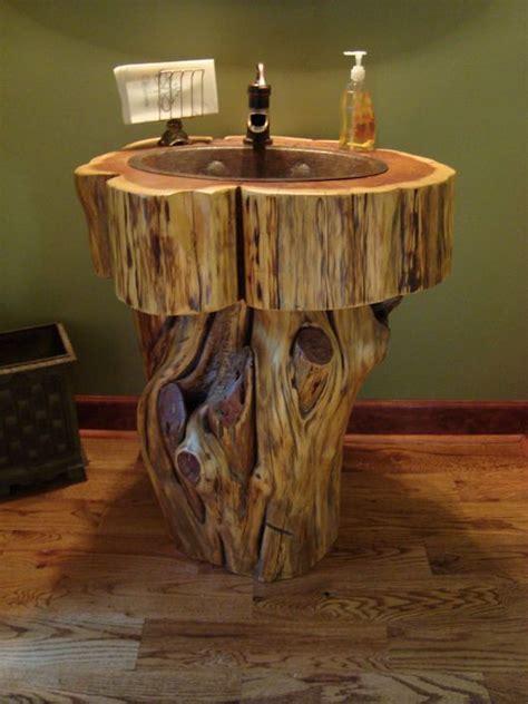 wow  tree stump vanities