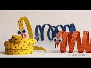 Serpiente: Manualidades con rollos papel higiénico YouTube