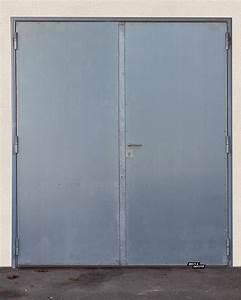 portes metalliques brun doutte With porte de service metal