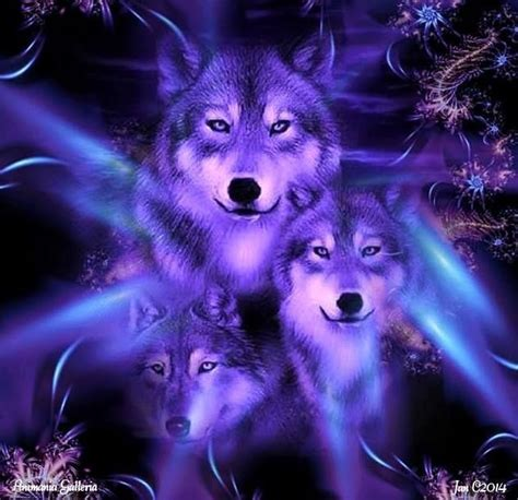Blue And Purple Wolf Wallpaper by Neon Blue My For Wolves Wolf And