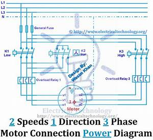 2 Speeds 1 Direction 3 Phase Motor Power And Control