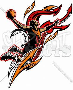 Basketball Player Clipart Graphic Vector Logo
