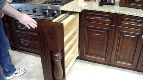 Hidden Spice Rack in Custom Kitchen Cabinet   YouTube