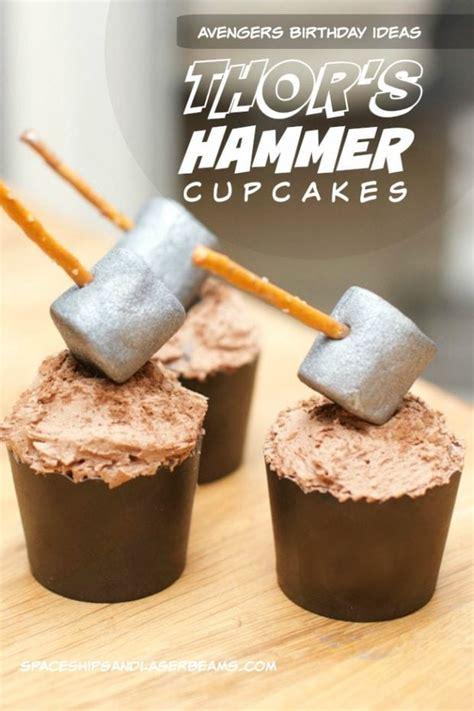 kids party food thors hammer cupcakes sendsmiles
