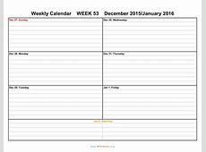 Formatted Weekly Calendar Template weekly calendar template