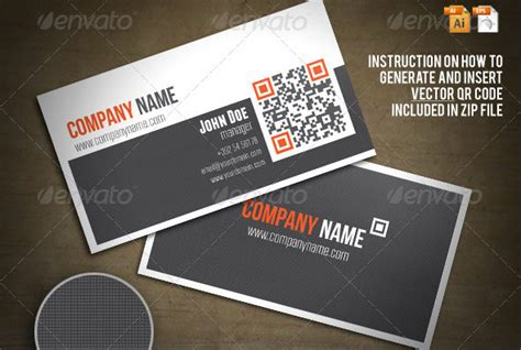 qr code business card templates web graphic design